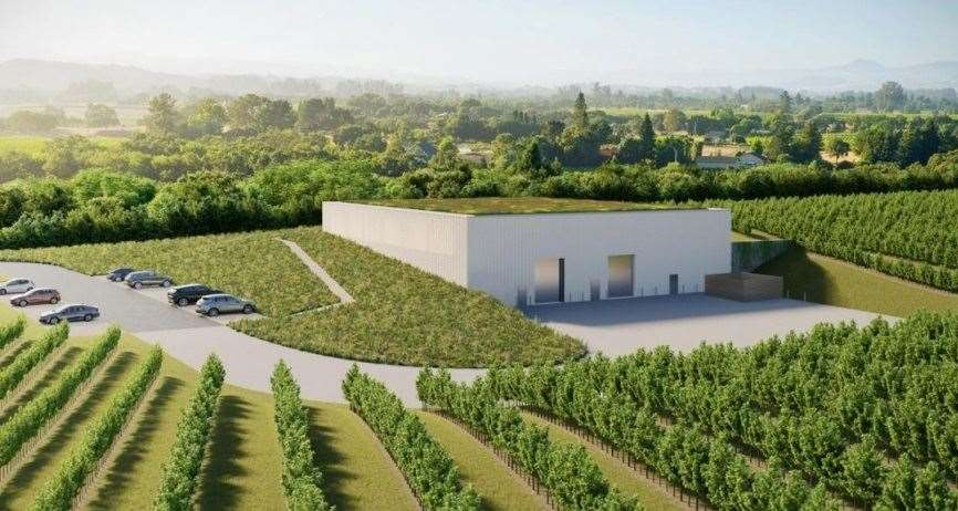 How the winery and car park is set to look