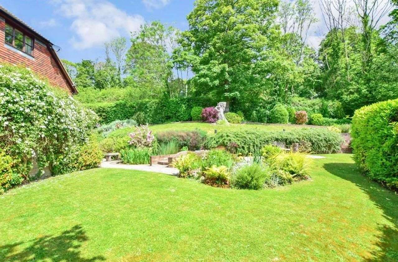 The private garden with terraces. Picture: Zoopla / Fine & Country