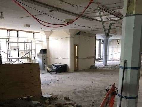 A new cafe and offices will fill this space