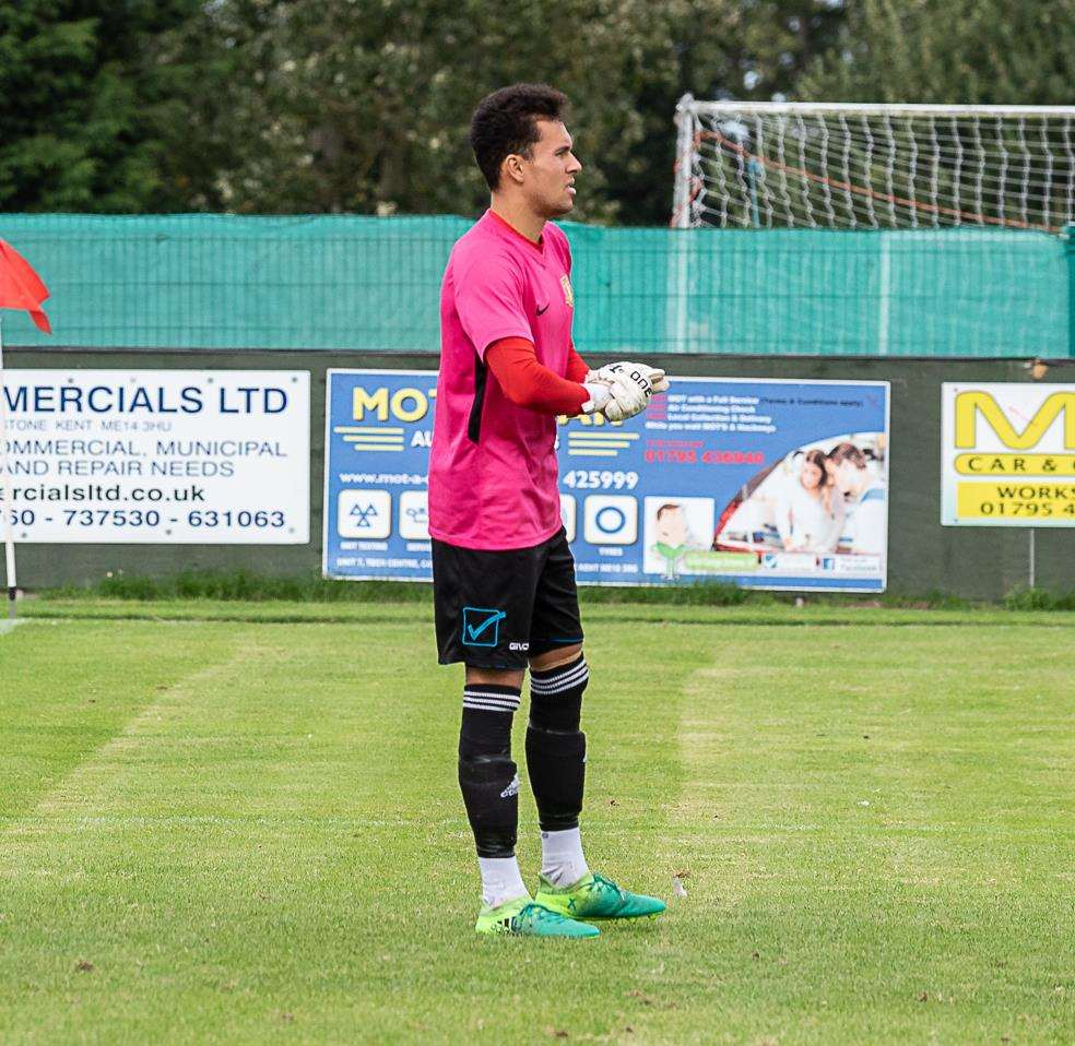 Sittingbourne goalkeeper Patrick Lee Picture: Tony Jones
