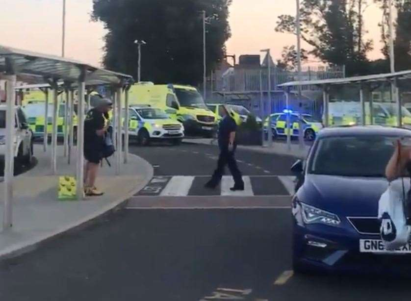 Emergency services at Ramsgate station. Picture: @PetrickGarcia / Twitter