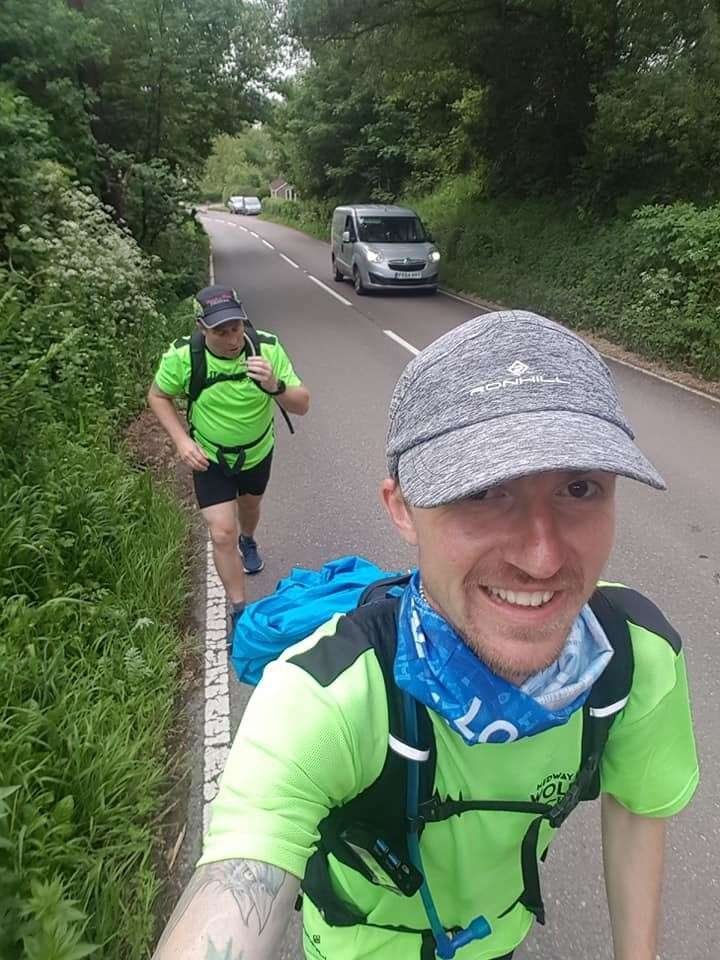 Ryan is planning to average 50 miles per day to complete the 17-day challenge. Picture: Ryan Brett