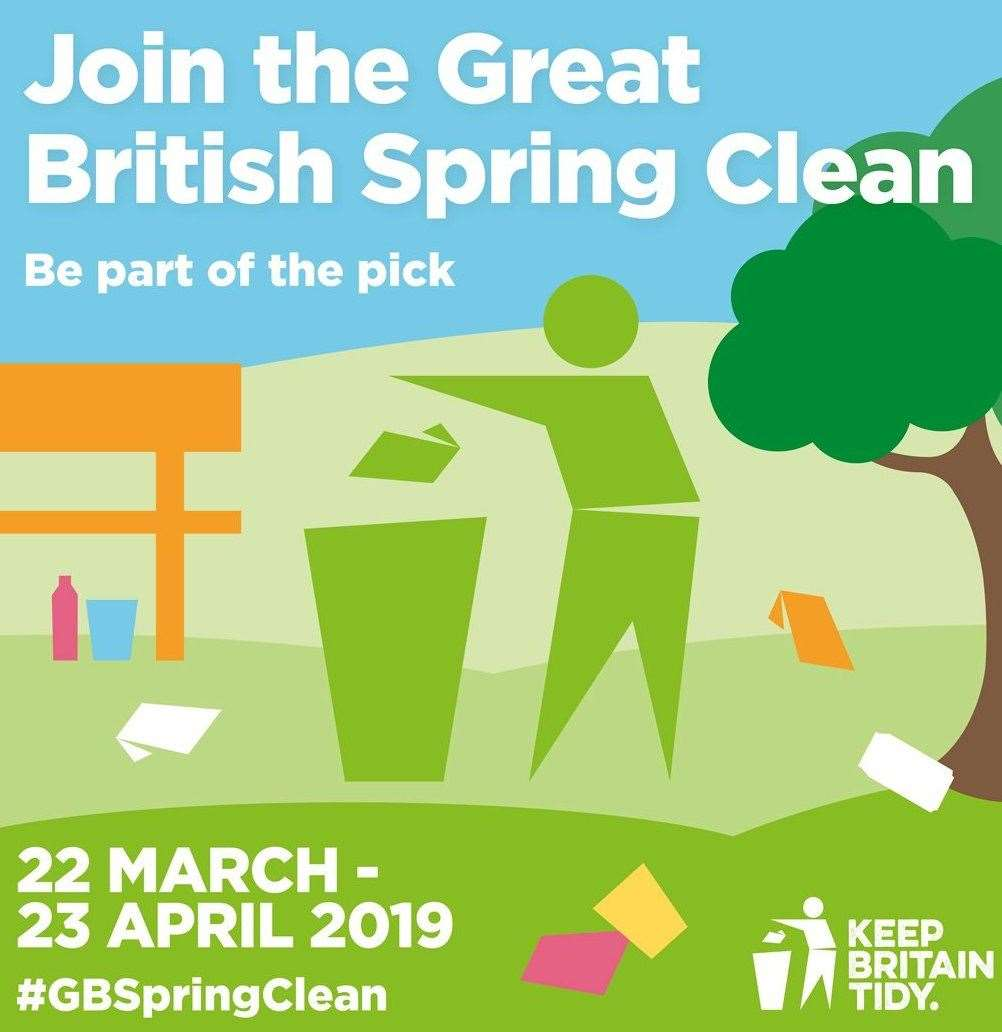 People across Kent are being asked to take part in the Great British Spring Clean