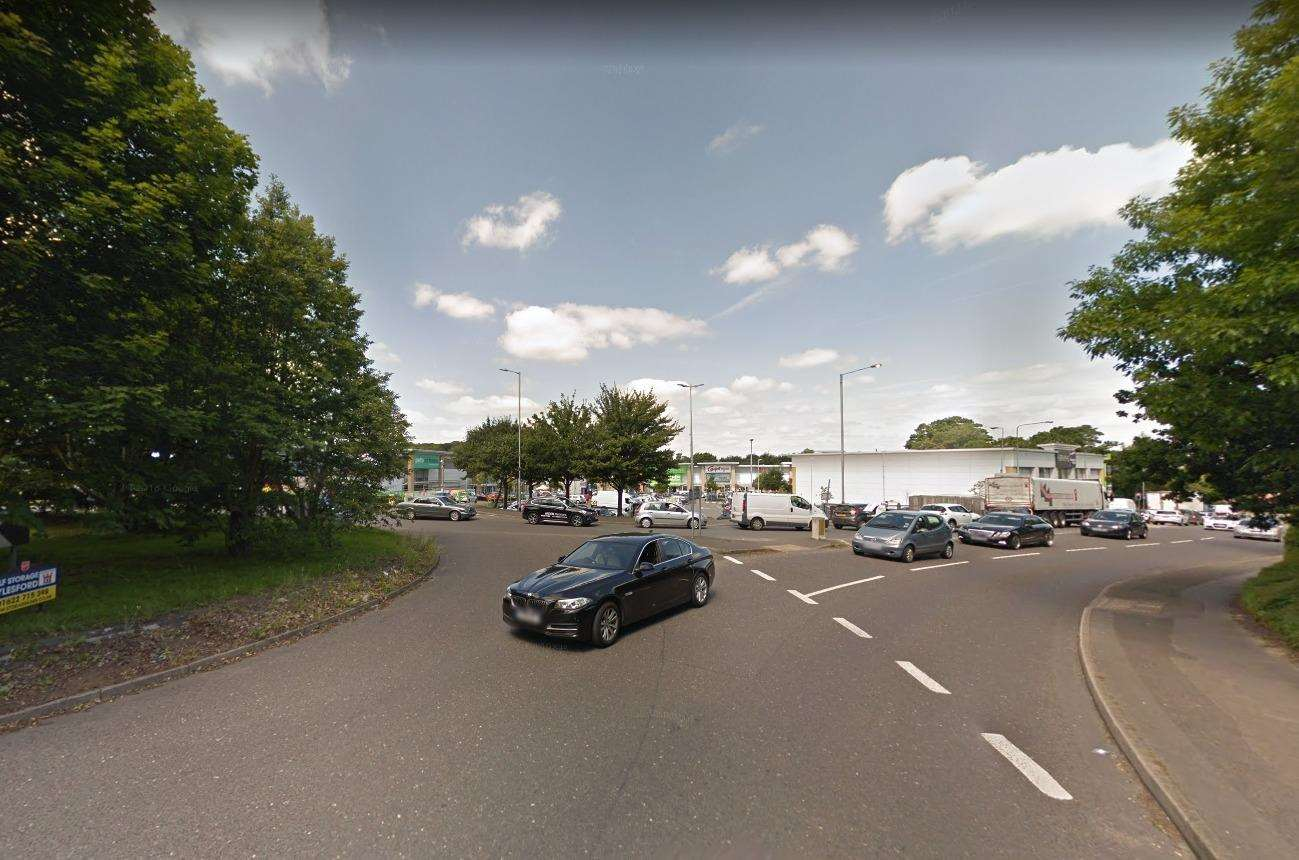 A man was approached by three men while sat in traffic in Mills Road, Aylesford, on Monday evening