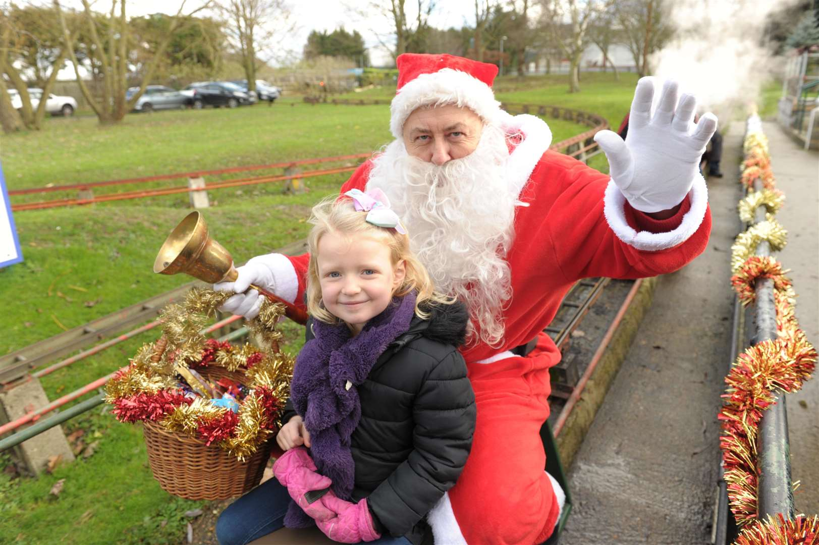 Cascades Liesure Centre, Thong Lane, Gravesend..Special Santa train rides for kids,.Mia (7)..Picture: Steve Crispe. (5876282)