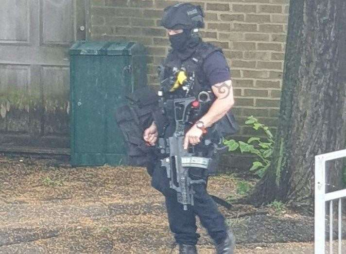 Armed police officers were in Ingram Road after an incident at 9am (12953440)