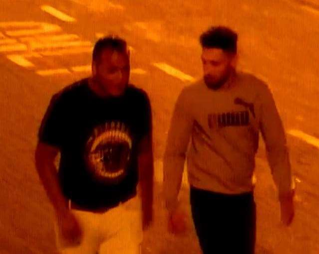 Police want to talk to these men in connection to an assault in Vicarage Road, Gillingham (13879403)