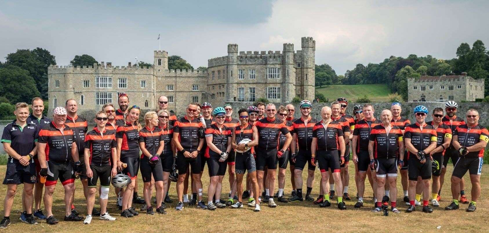 The Goatham's Great Kent Cycle Ride outside Leeds Castle. This year, it will take place from Friday, July 3 to Sunday, July 5.