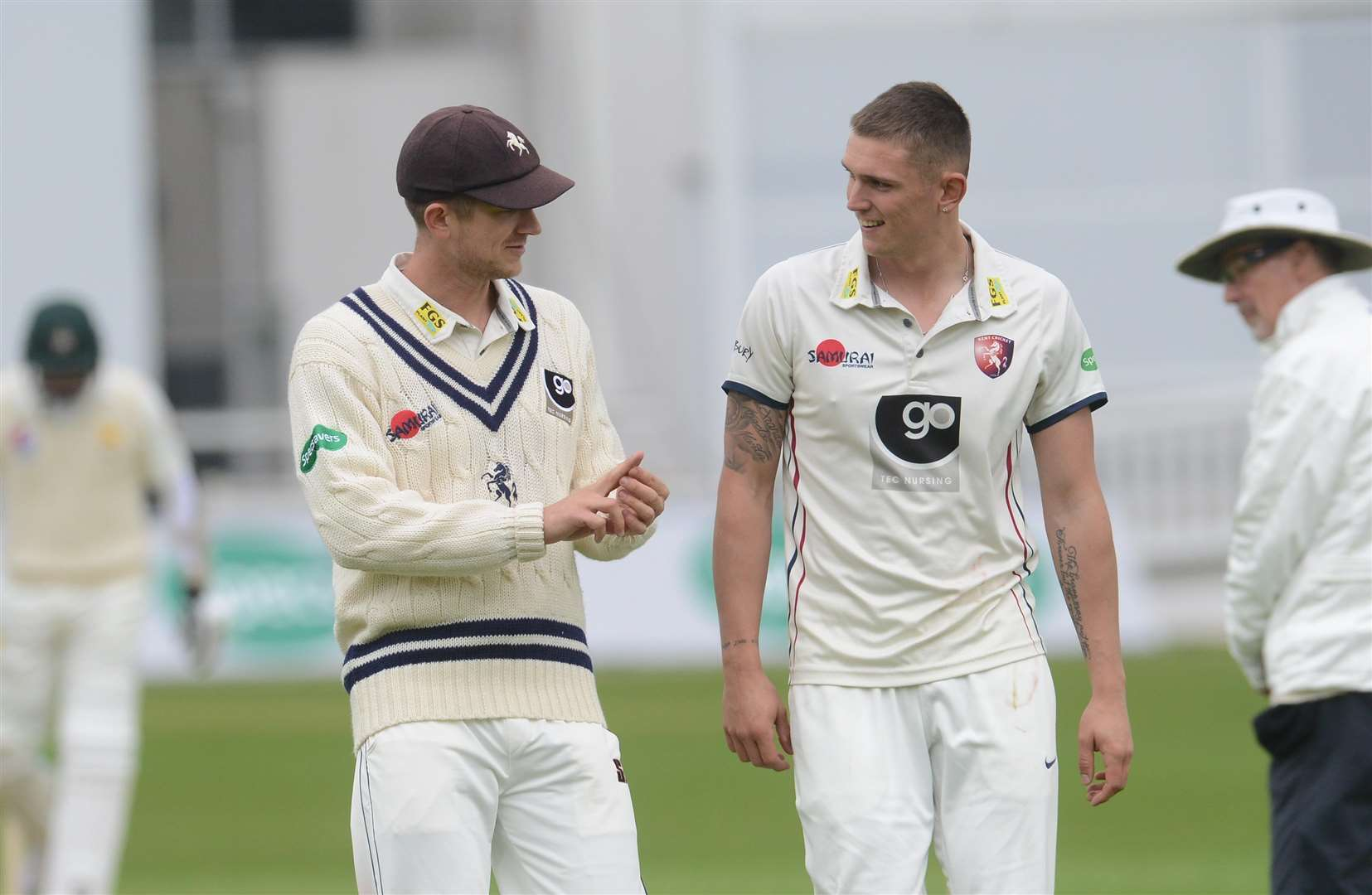 Joe Denly and Harry Podmore. Picture: Gary Browne