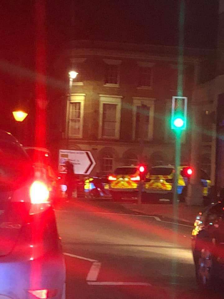 Police were seen at the clock tower in Gravesend Picture: Lewis James Calver (7071444)