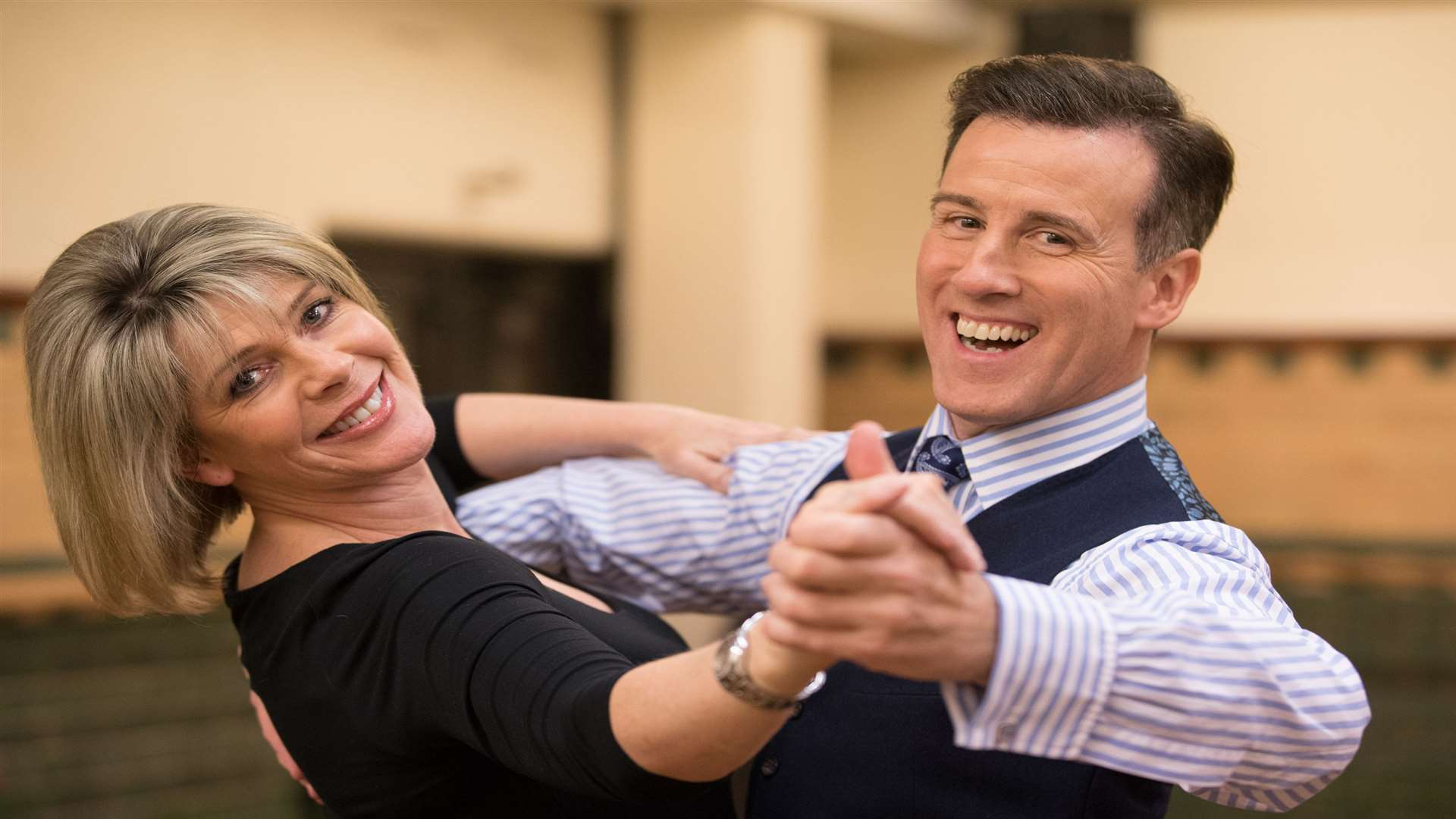 Anton du Beke with his Strictly partner last year, Ruth Langsford Picture: Aaron Chown/PA Photos