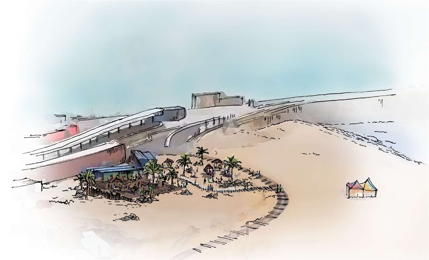 Beachside will be a new al fresco dining experience at the Harbour Arm in Folkestone. Picture: Folkestone Harbour Arm
