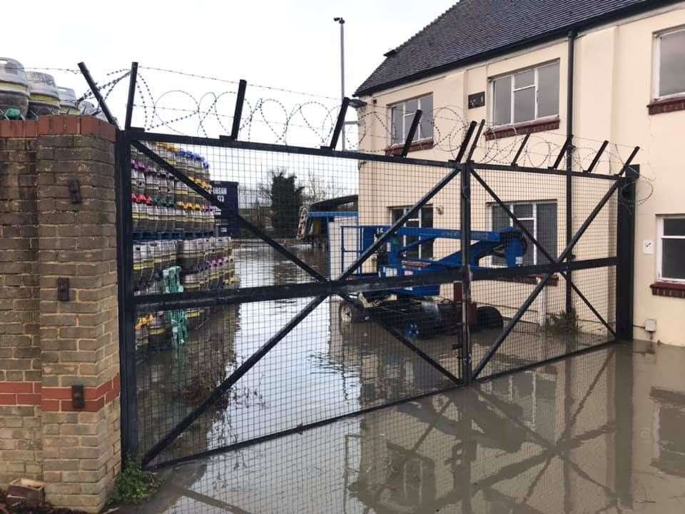 Flooding in North Lane, Faversham. Picture: Nathan Iliffe