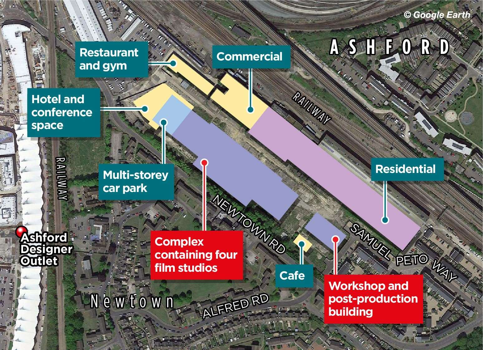 A map of how the Newtown site will be laid out
