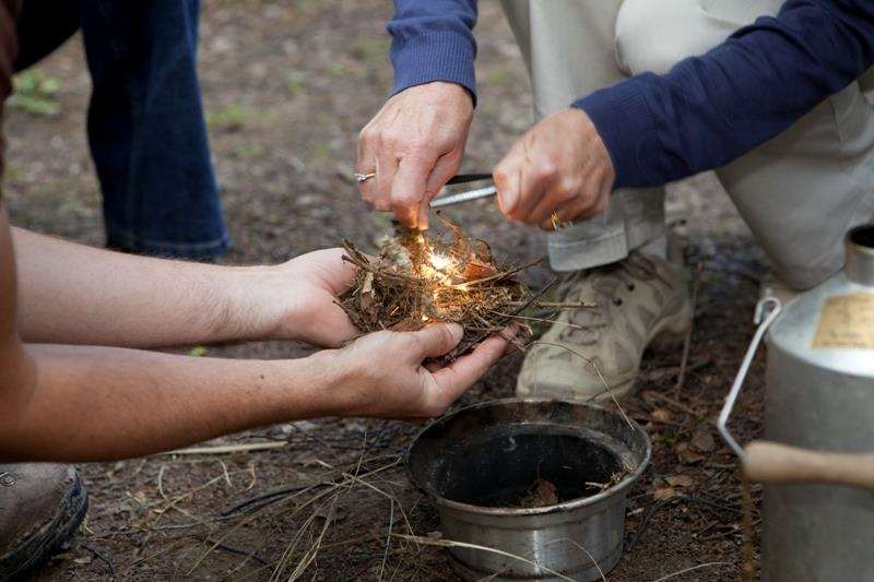Making a fire and keeping it alight could be one of your team's tasks