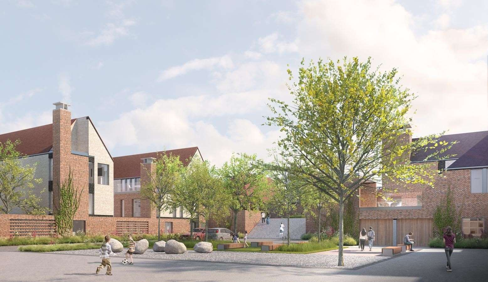A CGI showcasing how the homes are set to look