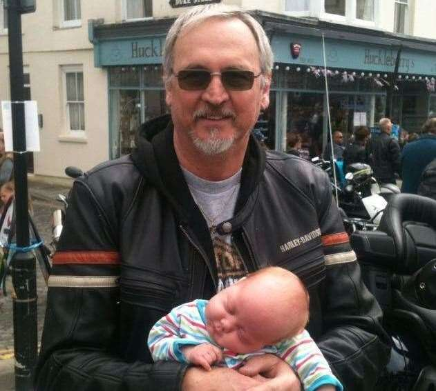 Dave Manser with one of his grandsons, Tobias