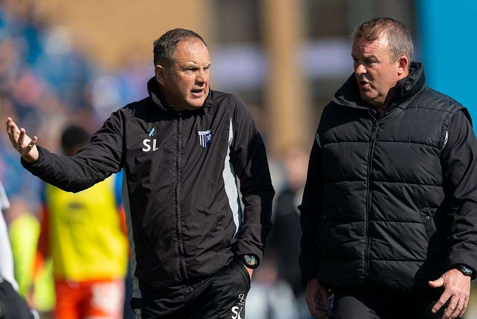 Steve Lovell with assistant boss Mark Patterson on Saturday Picture: Ady Kerry (8541385)