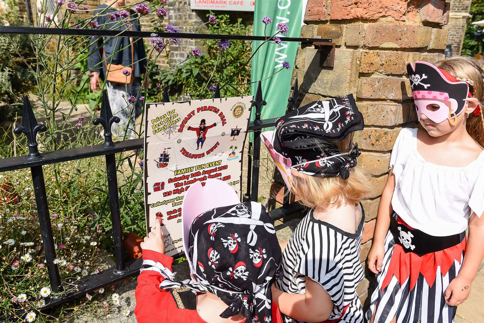 Young pirates enjoying the treasure hunt around Deal last year. Picture: Alan Langley