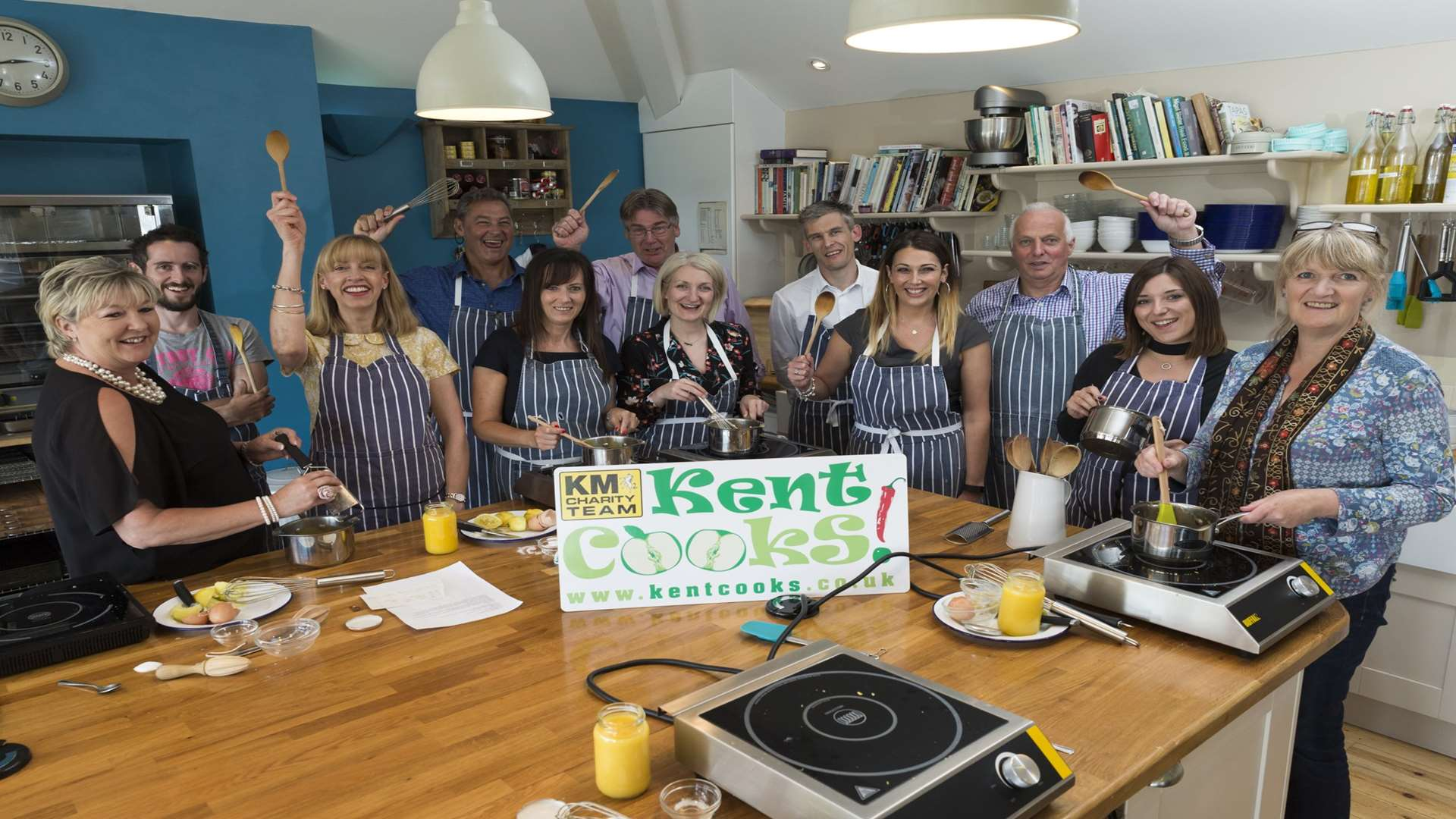 The judging panel are put through their paces at the summer launch of Kent Cooks 2017 at Chequers Kitchen Cookery School, Deal.