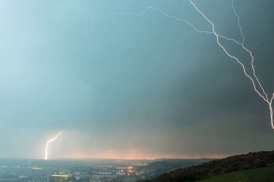 Homes were damaged by lightning strikes. Picture: Freddie Lee Thompson Photography