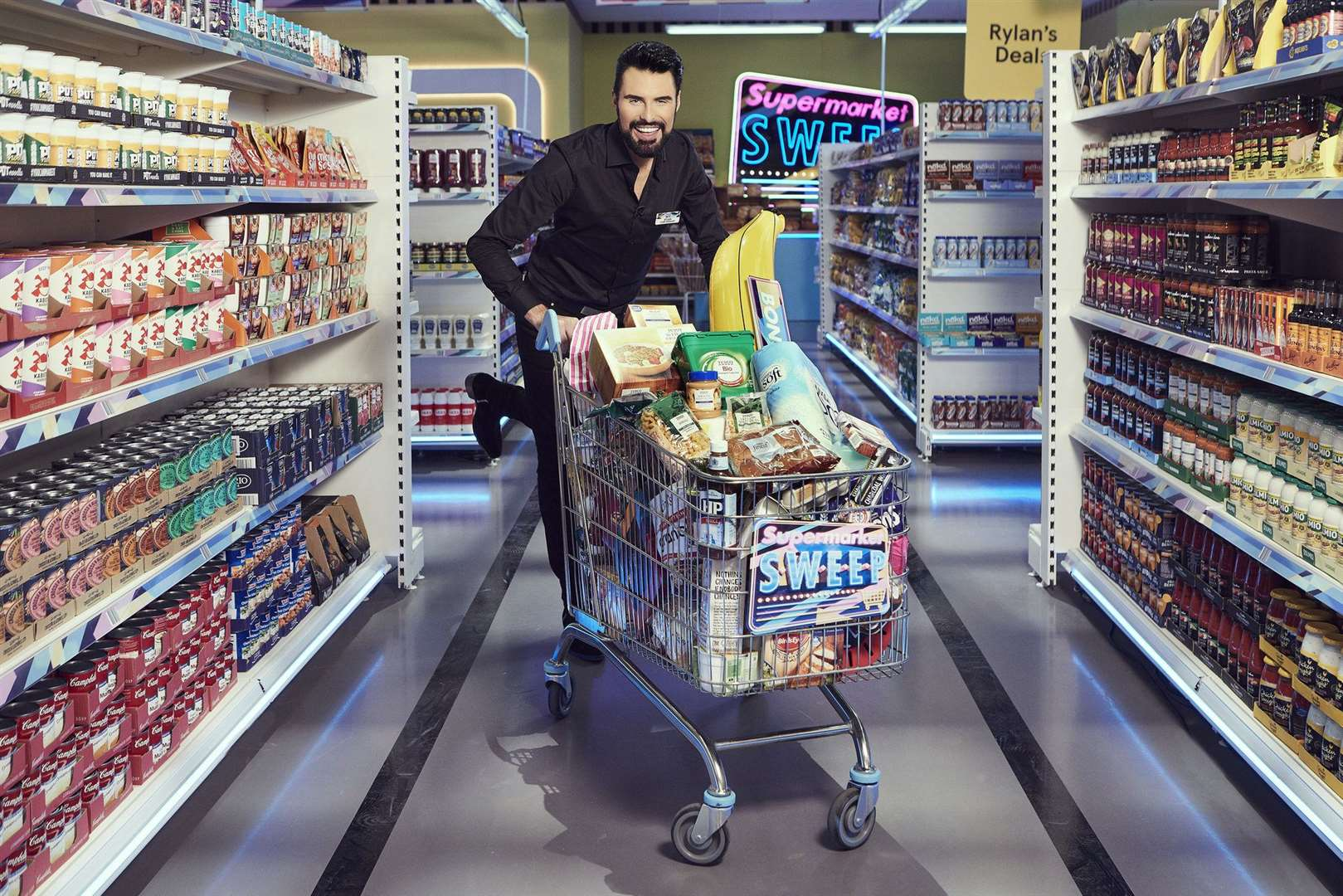 Rylan Clark-Neal will host the new Supermarket Sweep, which was filmed at Maidstone Studios (16115442)
