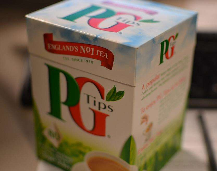 A box of 80 PG Tips boxes of PG Tips shrank by 11 per cent, from 250g to 232g