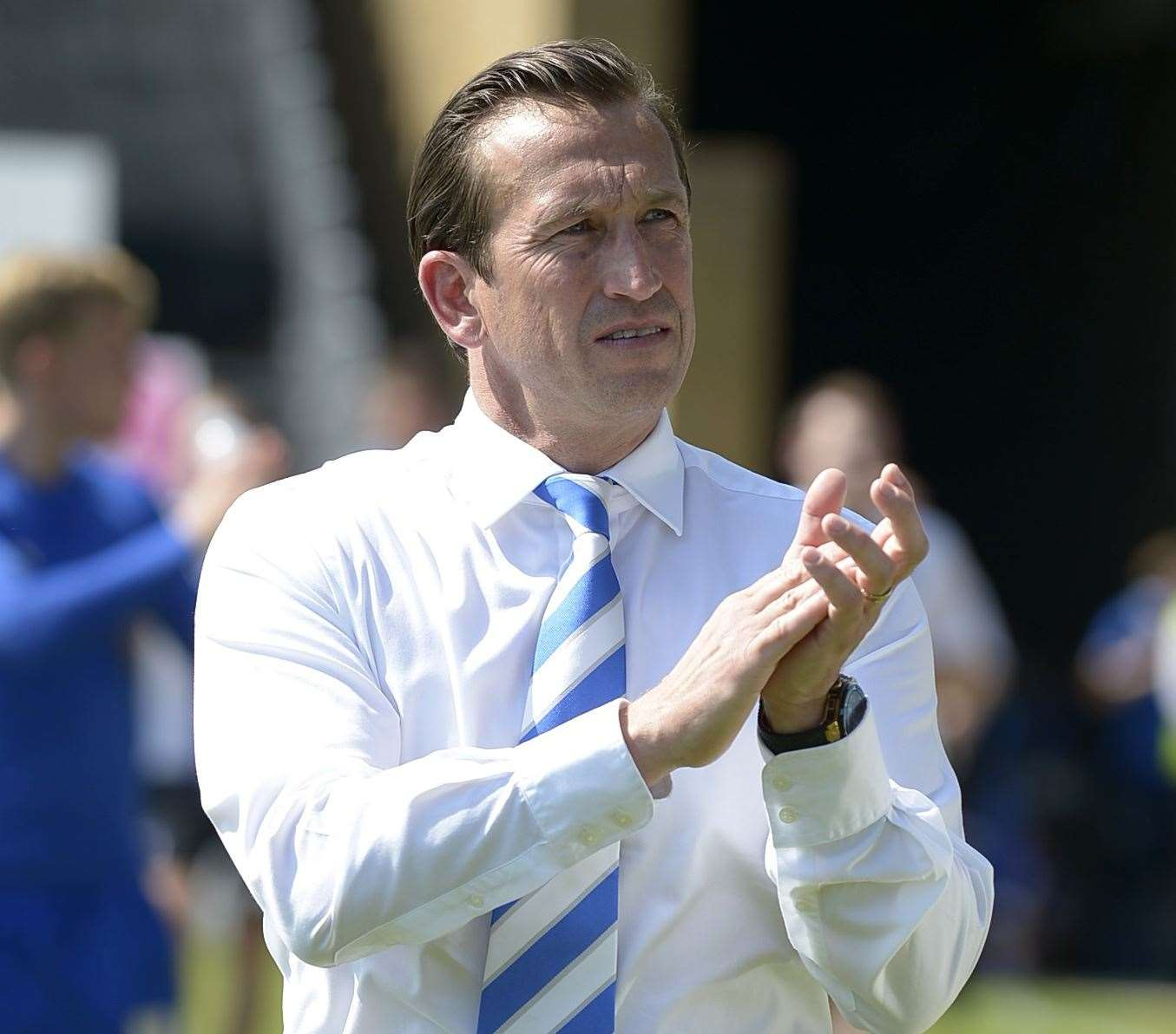 Former Gillingham manager Justin Edinburgh has died at the age of 49. Picture: Barry Goodwin