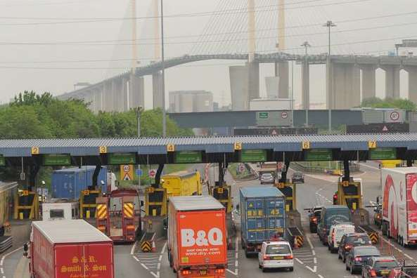 Traffic building up at the Dartford Crossing