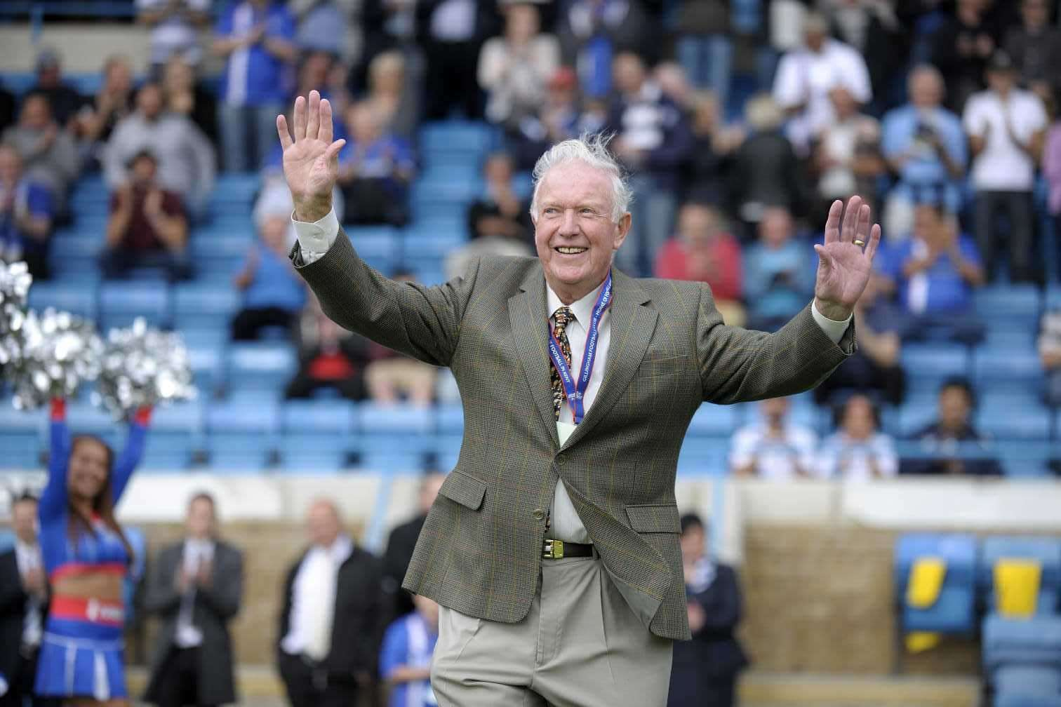 Former Gillingham player Les Riggs at Priestfield Picture: GFC
