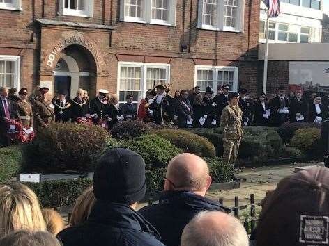 The Remembrance service in Dover. Picture Dover District Council