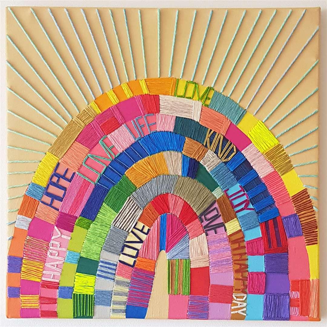 'Rainbow of Words' by Kate Towers at ArtSpring Gallery, Tonbridge