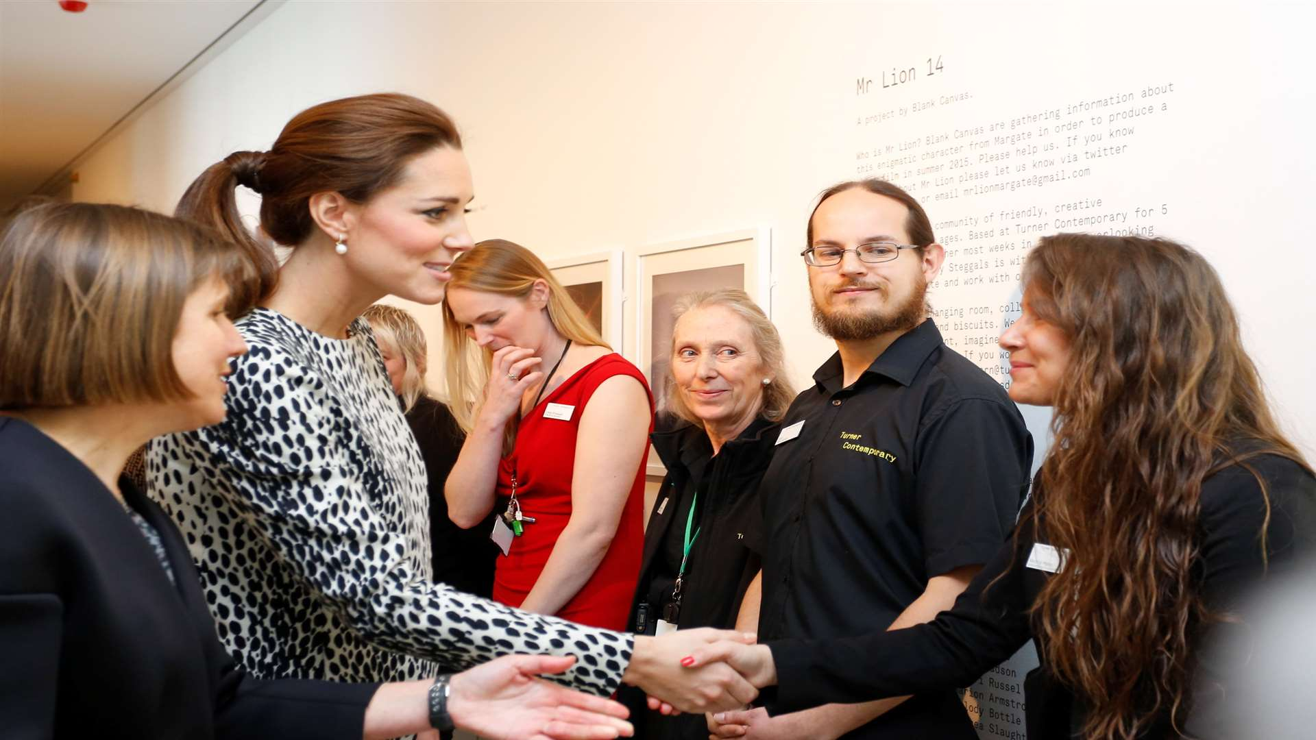Kate meets Turner Contemporary staff. Picture: Andy Jones/Isle of Thanet Gazette