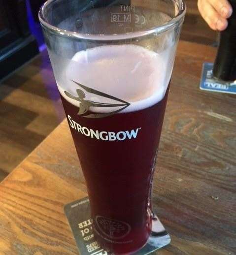 Much to the horror and embarrassment of the SD Apprentice I had a crazy moment and at one point decided to taste a Strongbow Dark Fruit