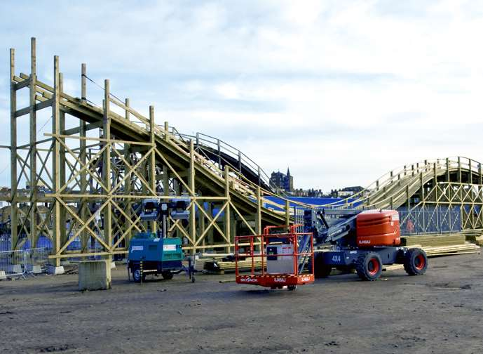 The new rollercoaster takes shape. Picture: Dreamland Margate