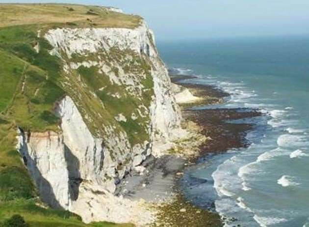 The cliffs at Dover
