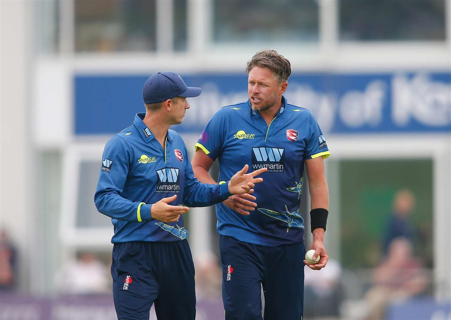 Joe Denly and Mitch Claydon. Picture: Andy Jones