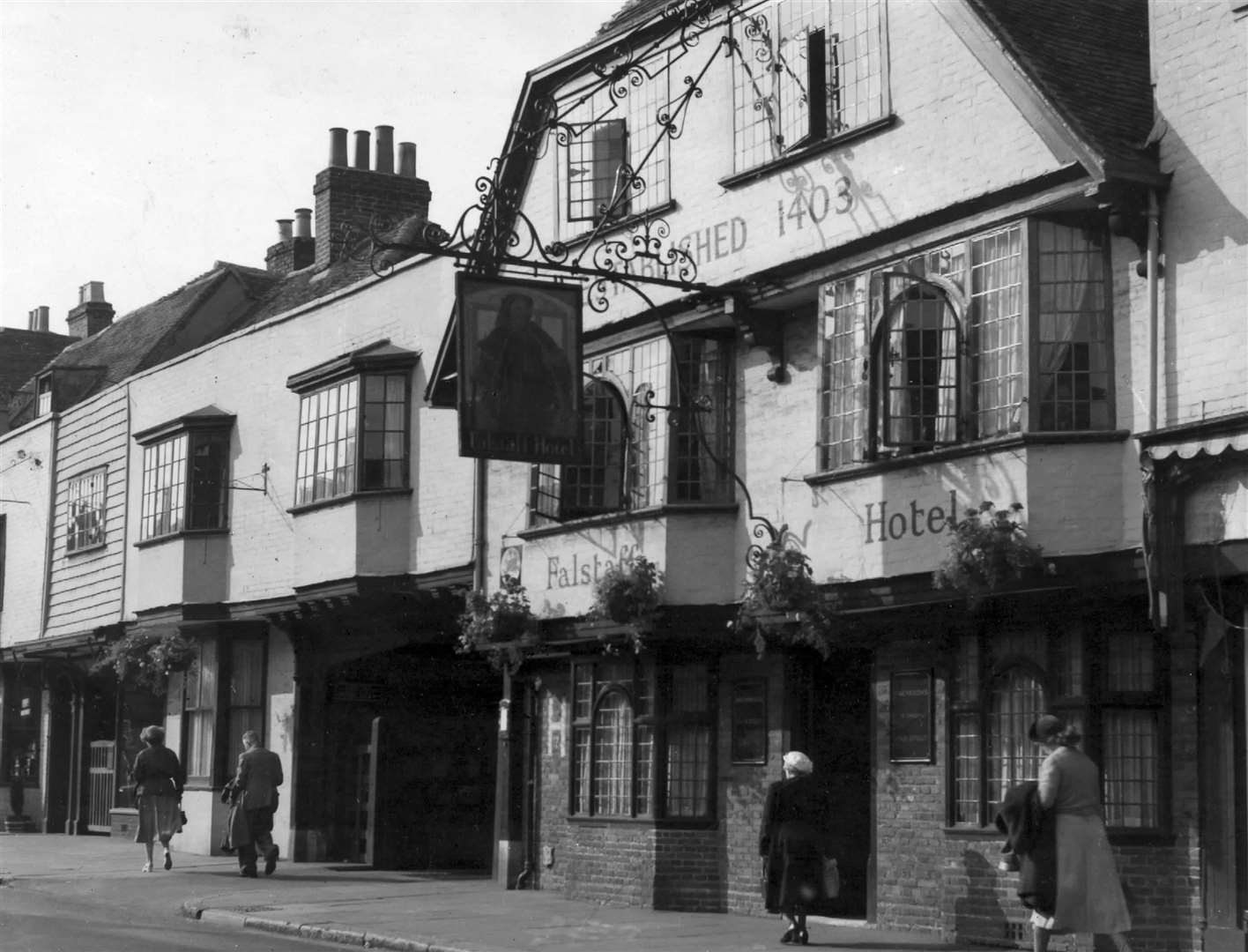 Falstaff Hotel in Canterbury in April 1941. It is a popular venue to this day