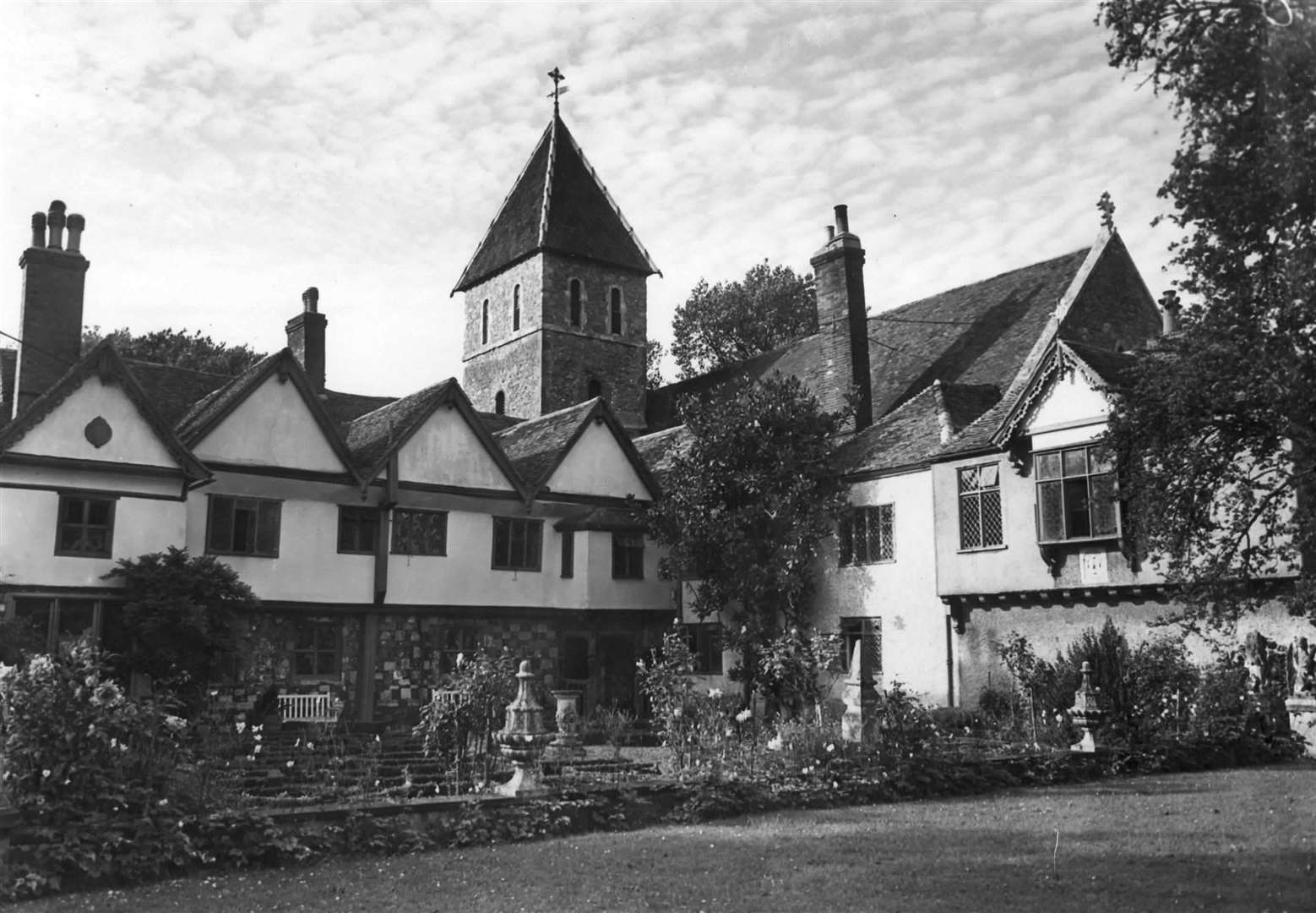 An undated archive photo of the priory, Sir Bob's home