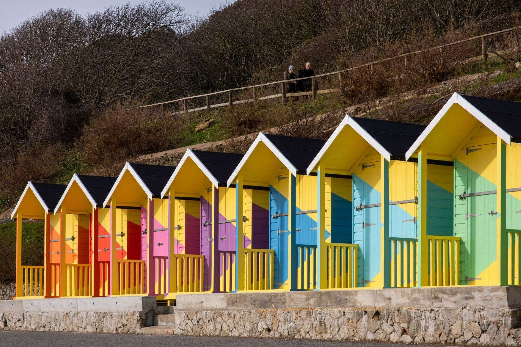 Folkestone's new beach huts.  Photo: @thierry_bal on Instagram