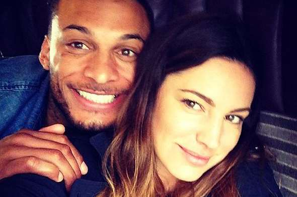 Rochester-born model Kelly Brook with former fiance David McIntosh