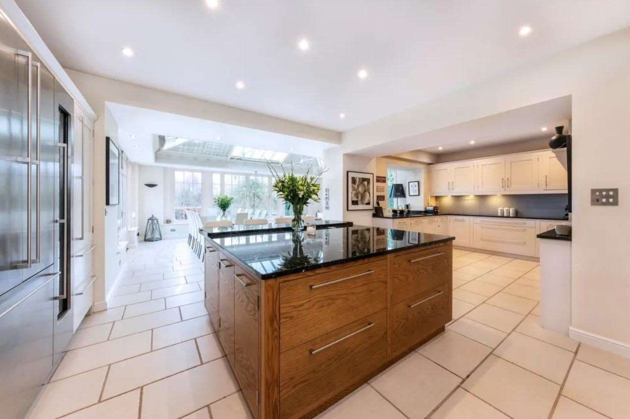 The 'vast' kitchen/breakfast room. Picture: Zoopla / Knight Frank