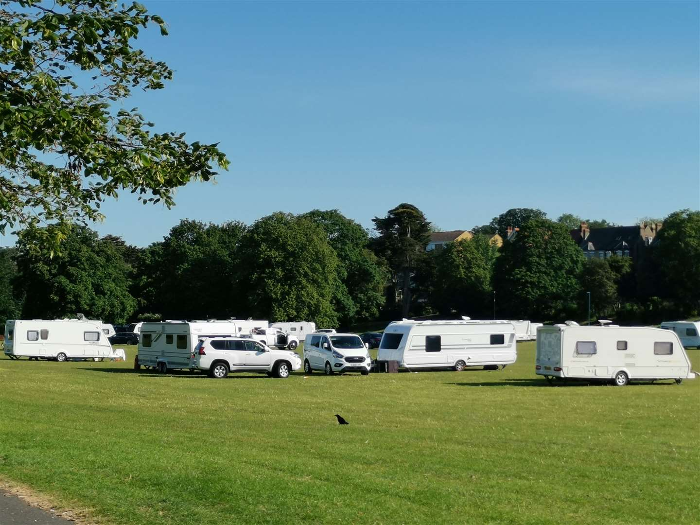 The travellers are 'isolating' due to a Covid case in their community