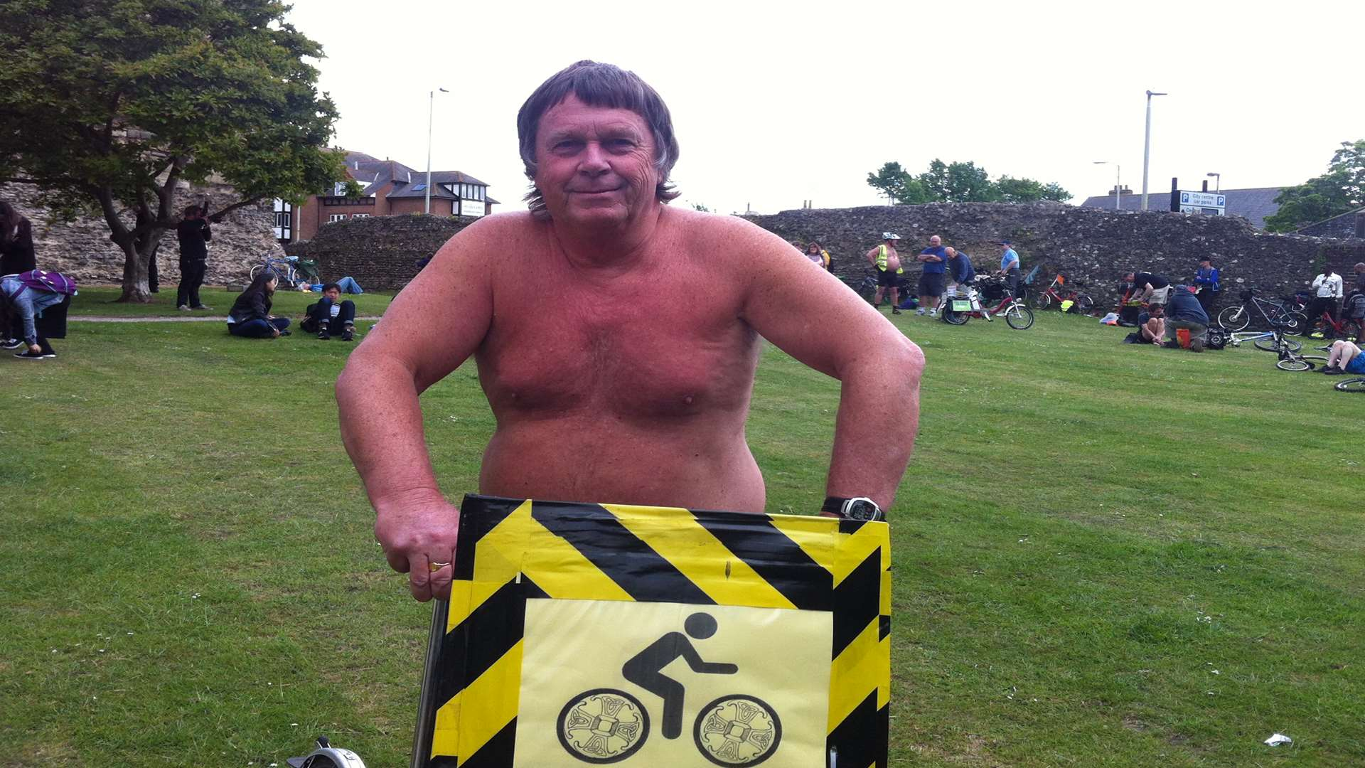Naked bike ride organiser Barry Freeman