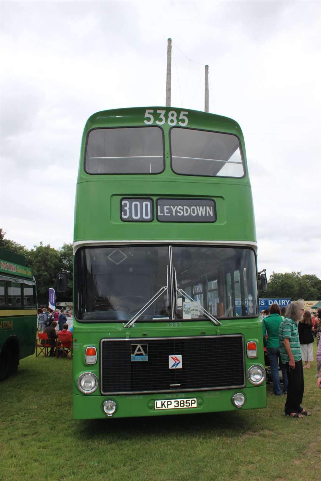 Hold very tight: this original Maidstsone & District Volvo Ailsa bus from 1975 was used iin Hastings and the Medway Towns until it was withdrawn from service in 1983i and sent to Scotland. It is now back in its 1981 colours after a respay in 2012 and ready to take passengers to Leysdown on the Isle of Sheppey. (13545713)