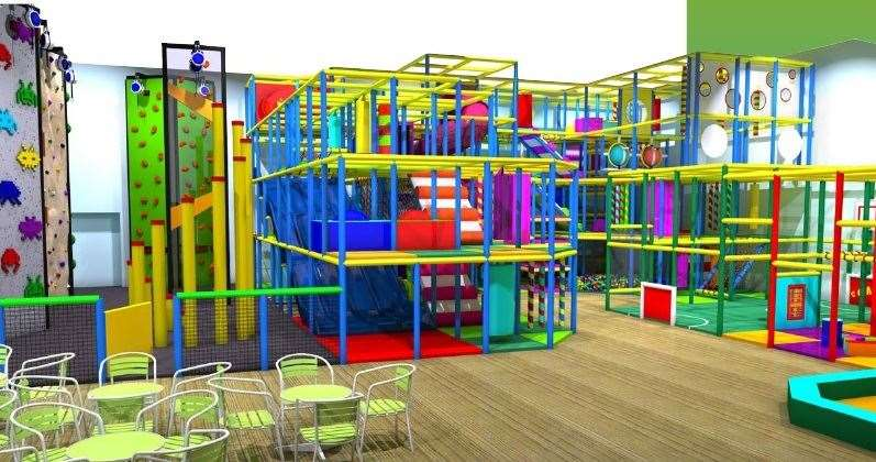 The new soft play facility will cater for up to 150 children
