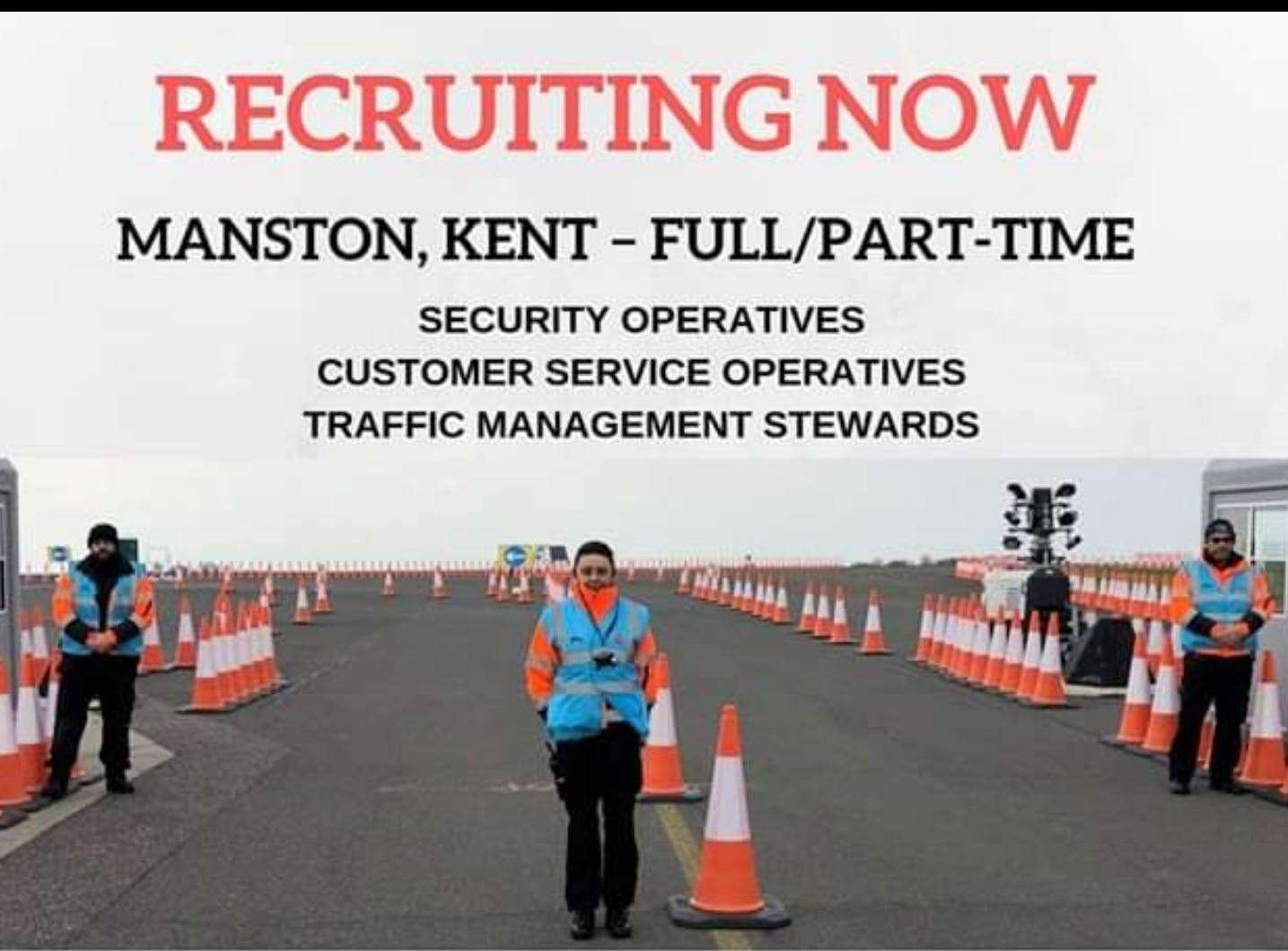 Jobs are being advertised at Manston in the event Operation Brock is triggered. (18653839)