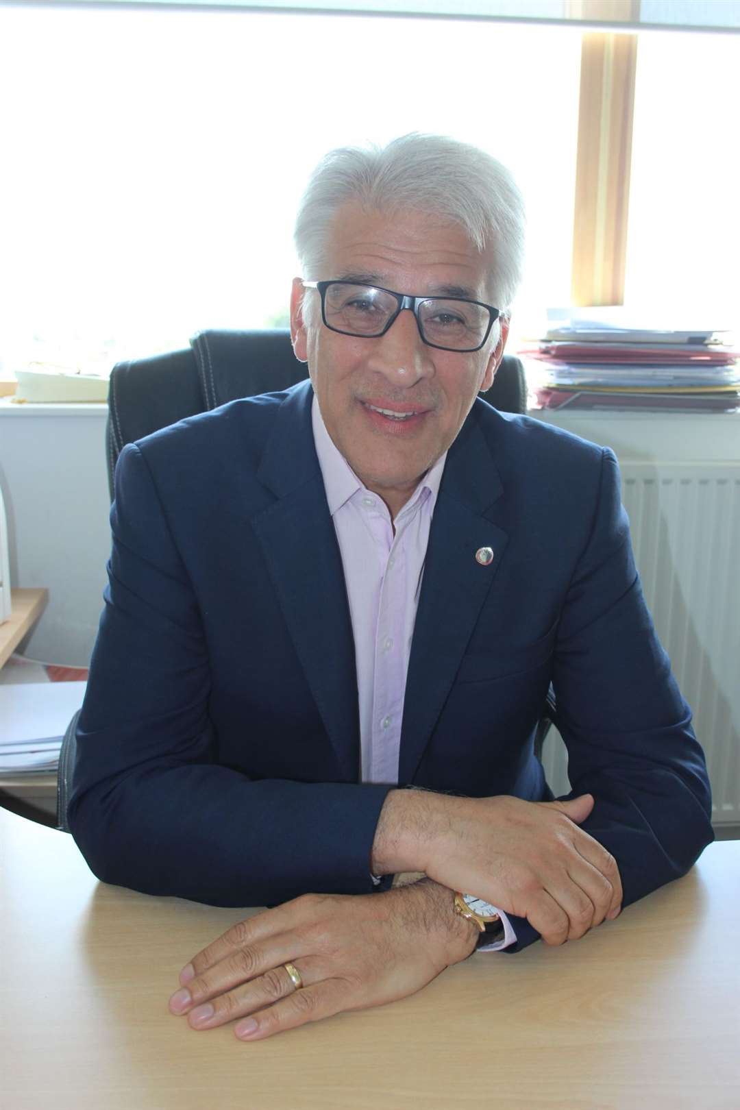 The Rev Steve Chalke at the Isle of Sheppey Oasis Academy