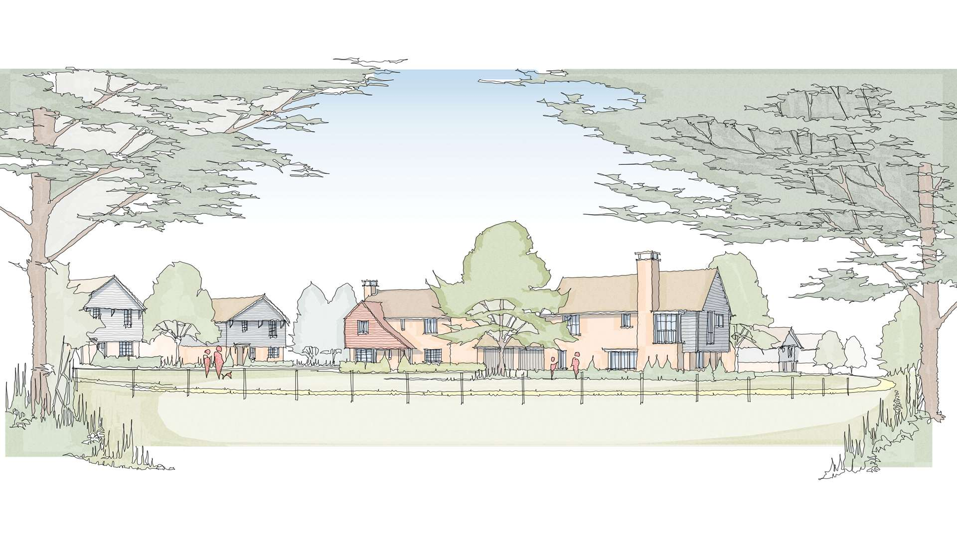 An artist's impression of the plans for 28 homes in Nonington