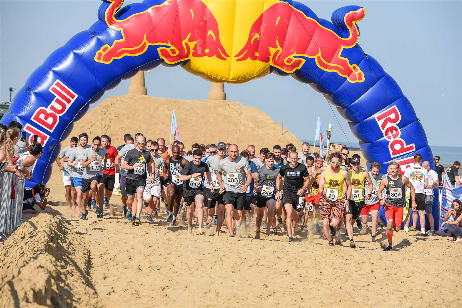 More than 600 competitors will take on the Red Bull Quicksand course in Margate